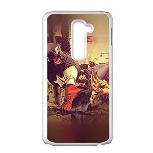 LG G2 Cell Phone Case White_aj67 captain america illust hero art Awftq