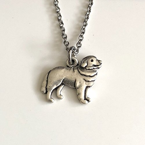 - Great Pyrenees Mountain Dog Necklace - Retriever Kuvasz on Stainless Steel Chain - Dog Mom Gift