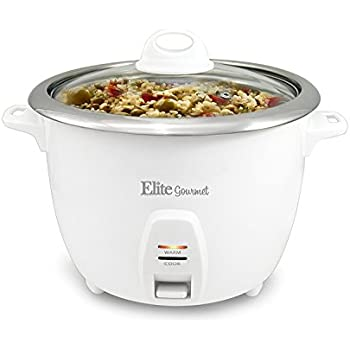 Elite Cuisine ERC-2010 Maxi-Matic 10 Cup Rice Cooker with Stainless Steel Pot, Black