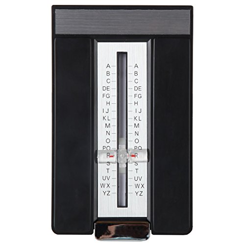 Address Index - Home-X Retro Style Flip Open A-Z Address Book. Black and Silver Finish