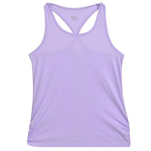 New Balance Girls' Big Athletic Tank Top, Violet Glow, 14 (Girls Youth Activewear)