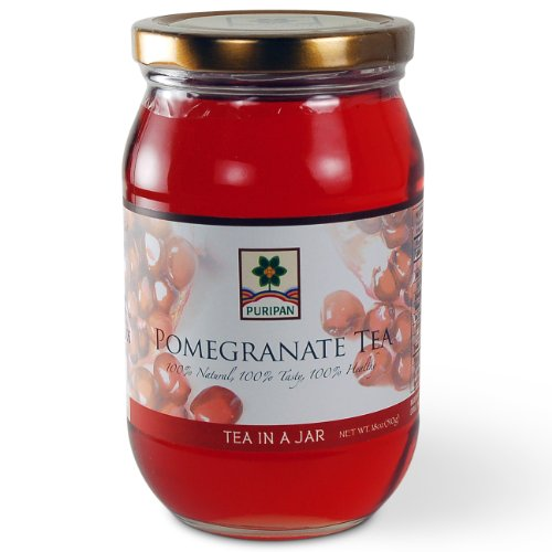 UPC 689076642835, Puripan Tea in a Jar Traditional Fruit Tea, Pomegranate 18 oz. Jar