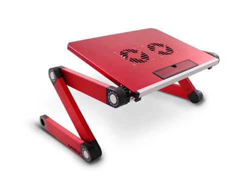 Lavolta Plegable Portátil Tabla Mesa Bandeja Soporte con Base de refrigeración para Asus X50R X50V X50Z X51L X51R X52F X58C X58L X59 X5AE X5DC X5DIJ X5EAE Z53 Z53JC - 2x