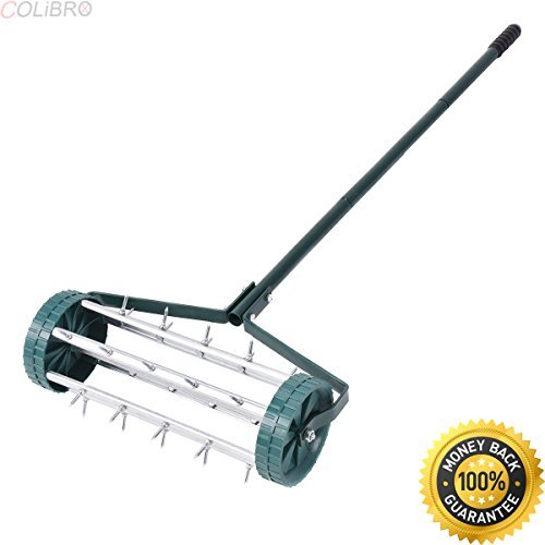 COLIBROX--Heavy Duty Rolling Garden Lawn Aerator Roller Home Grass Steel Handle Green New. rolling lawn aerator home depot. drum aerator tractor supply. push lawn aerator. lawn aerator for sale. by COLIBROX (Image #4)