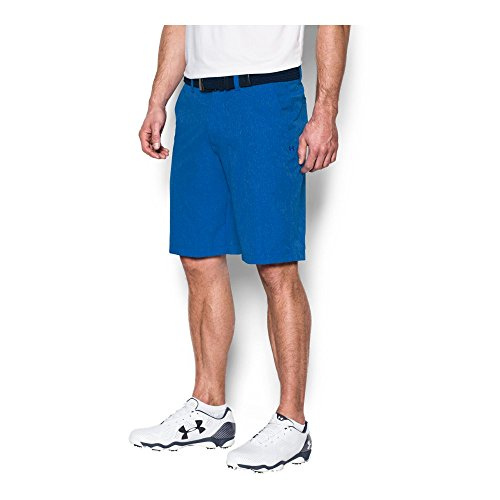 Under Armour Men's Match Play Vented Shorts, Blue Marker/Academy, 40