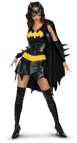 [DC Comics Deluxe Batgirl Adult Costume, Small] (Adult Halloween Costumes Women)