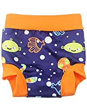 Leideur Baby Swim Nappies for Kids Cover Diaper High-Waisted Swimming Shorts