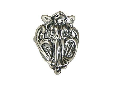 Art Nouveau Fairies (Sterling Silver Art Nouveau Fairy Ring Size 6)