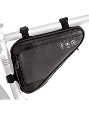 Bike Triangle Frame Bag, Cycling Waterproof Front Handlebar Bag Strap-On Saddle Pouch Storage Tube Bag With Reflective Stripe for Phone Cash, Repair Tool, Mini Pump Outdoor Sports Riding