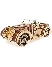 UGEARS 70052 VM-01 Roadster Auto-3D Holzkunst DYI – Modellbau Projekte für Erwachsene und Kinder-3D Technisches Modell Modellbausatz aus Holz, Einheitsgröße