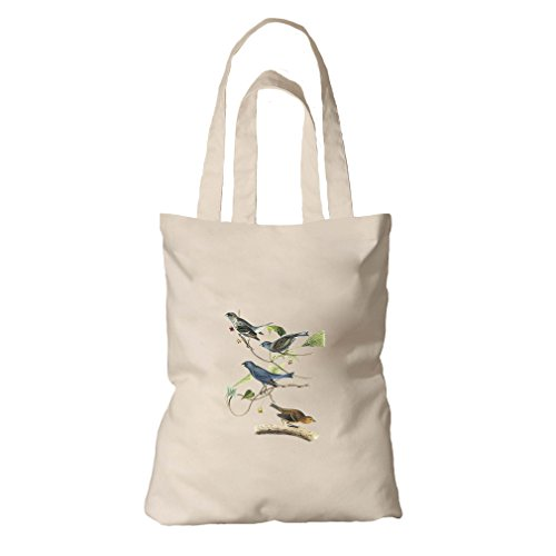Tote Bag Organic Canvas Indigo Bunting James Audubon Birds By Style In ()