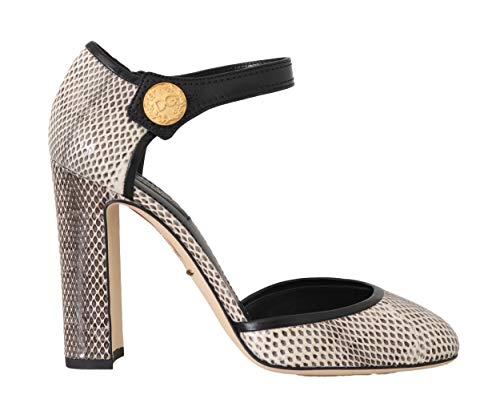 Dolce & Gabbana Snakeskin Ayers Ankle Strap Violet
