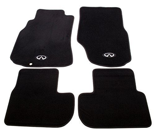 (NRG Innovations FMR-600 Floor Mats - With Infiniti Emblem logo - Fits 2003-2007 Infiniti G35 2dr Coupe models by NRG Innovations)
