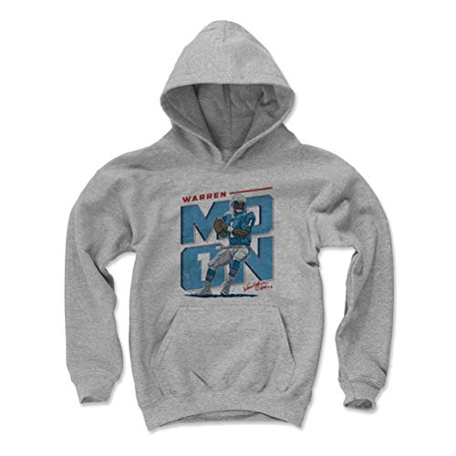 500 LEVEL Warren Moon Houston Oilers Youth Sweatshirt (Kids X-Large, Gray) - Warren Moon Initials ()