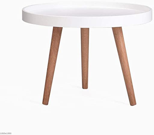Tx Jiaojiao Table Basse Ronde Table A Cafe Ronde Blanc Noir Petite