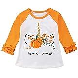 Baby Kids Girl Unicorn Halloween Pumpkin Car