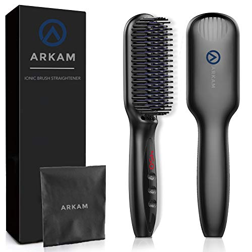 Arkam Beard Straightener for Men, Ionic Beard Straightening Comb with Anti-Scald Feature, Heated...