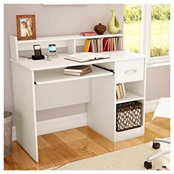 this item white writing desks for small spaces teens mens or ladies writing desk is modern and stylish space saving computer desk fits anywhere