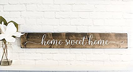 wood sign home sweet home sayings inspirational wood rustic wall decor
