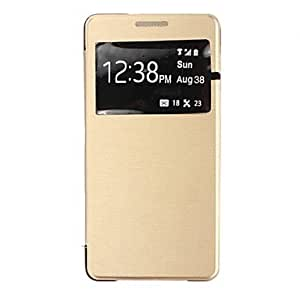 LCJ Flip-Open / Window Case For Samsung Galaxy A5(Assorted Colors) , Golden