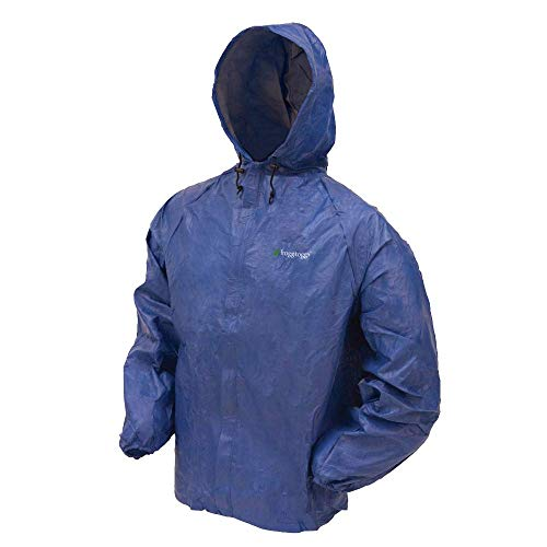 Frogg Toggs Ultra-Lite2 Rain Jacket, Blue, Size Medium