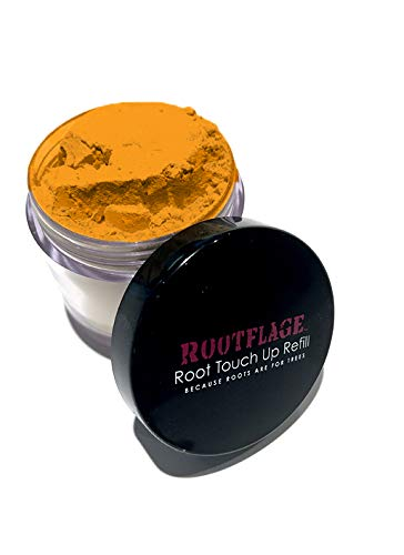 Rootflage Root Touch Up Hair Powder - Temporary Hair Color, Root Concealer, Thinning Hair Powder, Dry Shampoo- Refill Jar Base with Detail Brush Included (Strawberry Blonde)