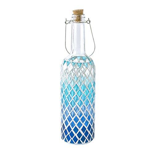 (Time Concept LED Mosaic Bottle Lamp - Blue Diamond - Table Centerpiece, Home Decor,)