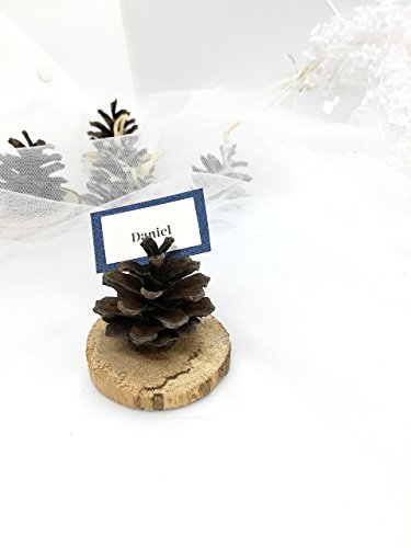 Pinecone Place Card Holders - Pine Cone name holder, Place card holders, Wedding accessories, Name Card Holder, Eco Wedding favors, Wedding decor, name card holder