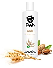 John Paul Pet Oatmeal Shampoo for Dogs and Cats, Sensitive Skin Formula Soothes and Moisturizes Dry Skin and Fur, 16-Ounce