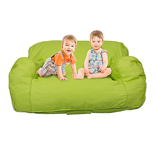 Livebest Soft Self-rebound Sponge Double Kids Lounger Sofa Bean Bag Chair Seat Available for Boys and Girls,Bright Color for Children's Day by Livebest