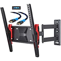 Mounting Dream MD2721 TV Wall Mount Bracket with Full Motion Articulating Arm for most 26-55 Inches LED, LCD and Plasma TVs up to VESA 400x400mm and 77 LBS, with Tilt, Swivel, and Leveling Adjustment