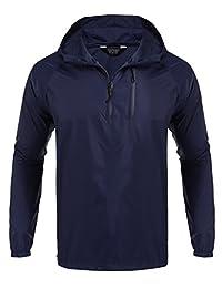 Coofandy Unisex Packable Outdoor Waterproof Hooded Raincoat Jacket Poncho Rainsuit