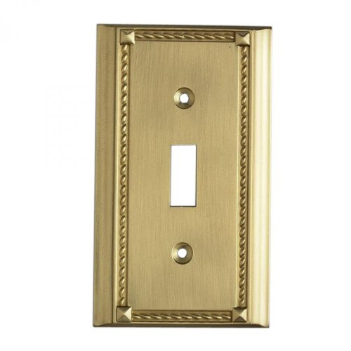 ELK Lighting-Brass Single Switch Plate-2501BR