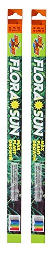 ((2 Pack) Zoo Med Coral Flora Sun Plant Growth Bulb T8 15 Watts, 18-Inch)