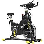 41ce oliq L. SS150 Allenamento Bike Professionale Cyclette Aerobico Home Trainer, Orologio Elettronico Multifunzionale, Rilevazione Della Frequenza Cardiaca, Cambio Di Velocità Continuo CVT, Volano Solido Da 20 Kg,