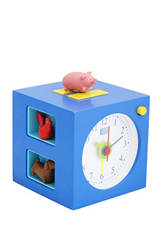 (KOOKOO KidsAlarm Blue, Alarm Clock for Children Including 5 Farm Animals and Their Wake-up Calls, Natural Field Recordings, MDF Wood Cabinet;)