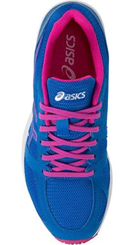 Asics T8b0n Donna Lyteracer Ts 7 Scarpe Da Corsa Directoire Blu / Bianco / Rosa Bagliore