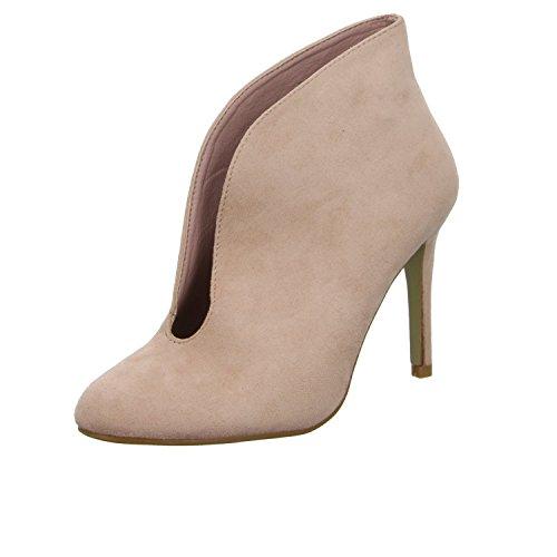 Lucky shoes B-51p Damen Schlupf/Reißverschlussstiefelette Kaltfutter Rot (Rose)
