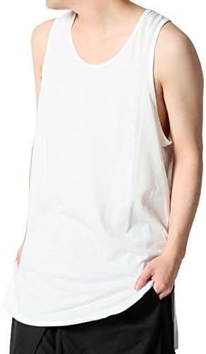 (アズスーパーソニック) AS SUPER SONIC タンクトップ ロング丈 サイドスリット 日本製 メンズ