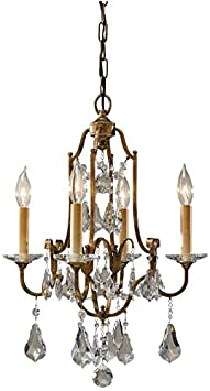 Feiss F2480 4OBZ Valentina Crystal Candle Chandelier Lighting, Bronze, 4-Light 16 Dia x 22 H 240watts