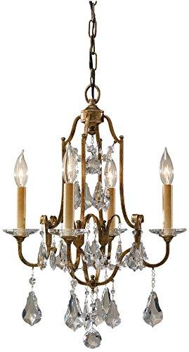 Chandelier Bronze Light Mini Four (Feiss F2480/4OBZ Valentina Crystal Candle Chandelier Lighting, Bronze, 4-Light (16
