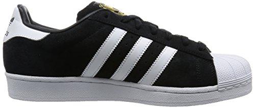 adidas Superstar Suede, Scarpe da Basket Uomo Nero (Black (Core Black/Ftwr White/Core Black))