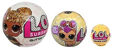 Bundle Lets Be Friends! Surprise Glitter Doll, Surprise Pet and Surprise Charm Fizz - 3 LOL Surprises!