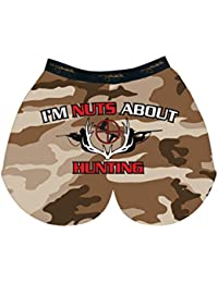 My Sack Mens Im Nuts About Hunting Camo Testicle Boxer Shorts