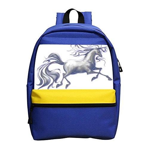 SGFA The excited unicorn School Backpack For Kids Children