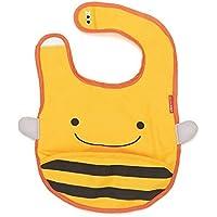 Skip Hop Zoo Little Kid and Toddler Tuck-Away Water Resistant Baby Bib, Bee