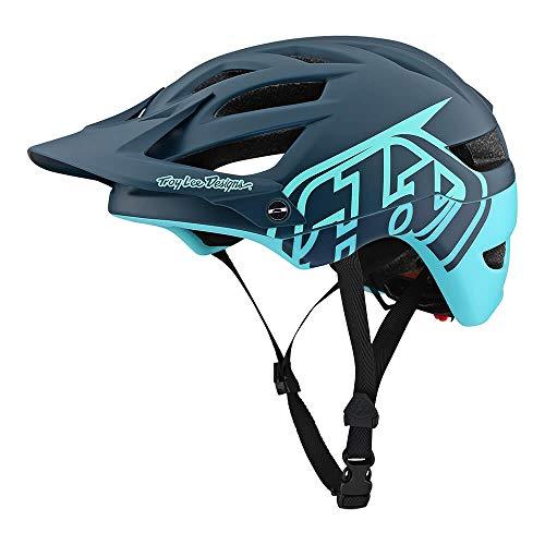 (Troy Lee Designs Adult   Trail   Enduro   Half Shell A1 Classic Mountain Biking Helmet with MIPS (Medium/Large, Dark Gray/Aqua))