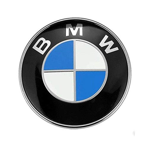 BMW Emblem Hood and Trunk 82mm 3.2 inch Badge Logo Replacement for ALL Models BMW E30 E36 E46 E34 E39 E60 E65 E38 X3 X5 X6 3 4 5 6 7 8