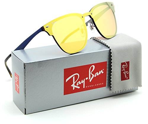 Ray-Ban RB3576N Blaze Clubmaster Unisex Sunglasses 90377J - - Ban Sunglasses Yellow Ray