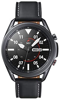 SAMSUNG Galaxy Watch 3 (45mm, GPS, Bluetooth, Unlocked LTE) Smart Watch with Advanced Health Monitoring, Fitness Tracking, and Long Lasting Battery – Mystic Black (US Version)